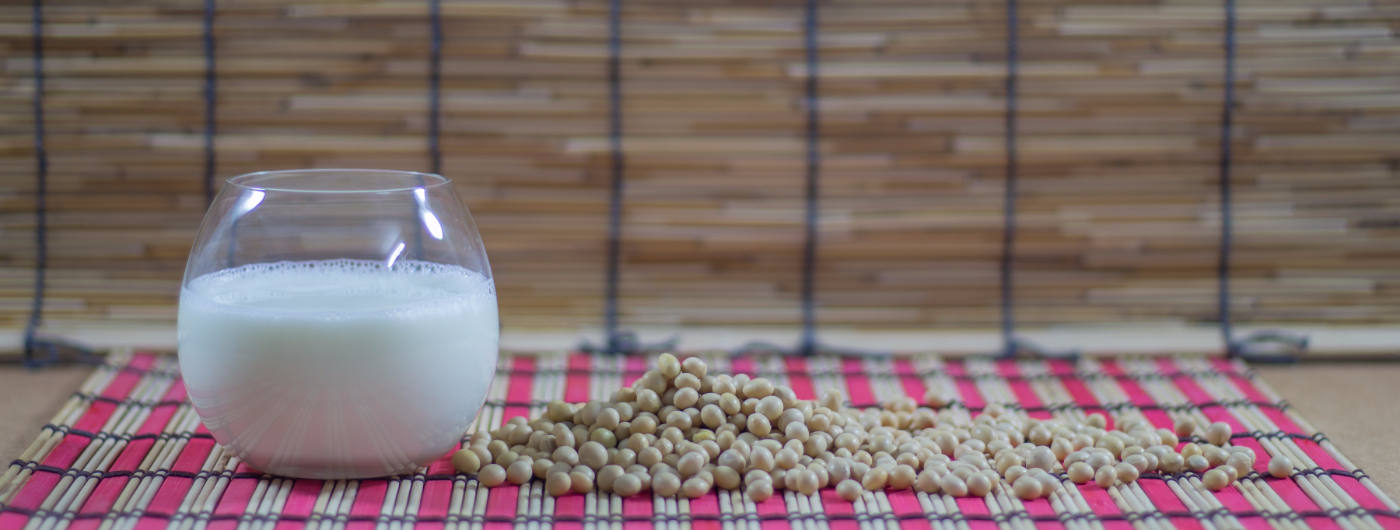 Soy milk and soybeans seeds